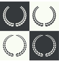 Circular laurel wreath vector