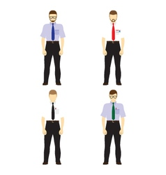 Male figures avatars business people avatars icons vector
