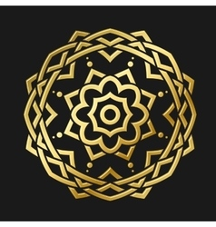 Round gold ornament vector
