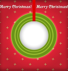Christmas round frame with place for text vector