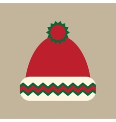 Flat icon on stylish background winter hat vector