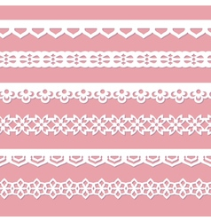 Pink background with laces vector