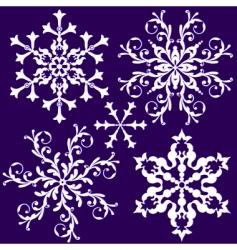 Vintage snowflakes vector