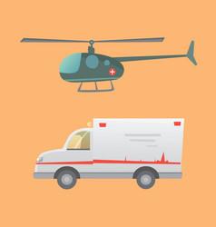 ambulance car flat design vector image vector image