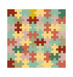 Assembled jigsaw puzzle vector image