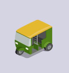 Auto rickshaw transport isometric vector