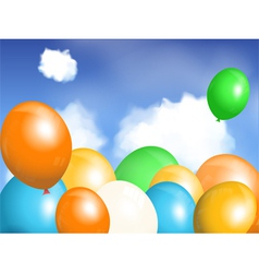 balloons floating in sky vector image vector image