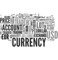 Beginner s overview of foreign currency exchange vector