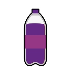 Bottle icon Soda and drink design vector image