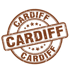 Cardiff stamp vector