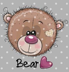 Cute cartoon teddy bear head vector