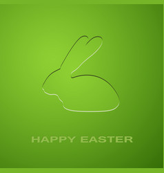 easter green rabbit vector image vector image