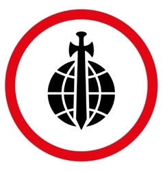 Global Guard Flat Rounded Icon vector image vector image