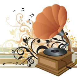 gramophone illustration vector image vector image