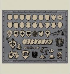 heraldic shields templates vector image