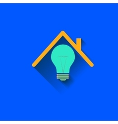 Logo of the house electricity in the home vector