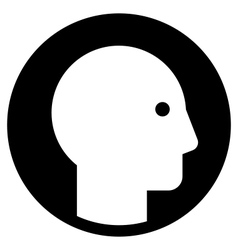 man profile 380x400 vector image