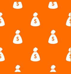money bag pattern seamless vector image