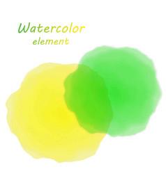 orange watercolor blotch set of orange watercolor vector image
