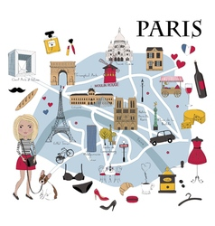 Paris map vector