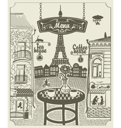 Parisian restaurant vector
