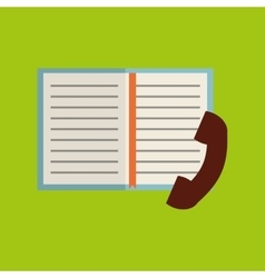 Phone book notebook adress vector