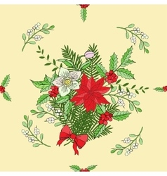 Seamless pattern with Christmas decoration vector image
