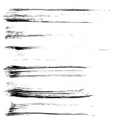 set of ink brush strokes vector image vector image