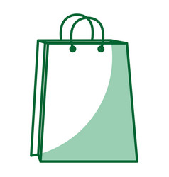 shopping paper bag icon vector image