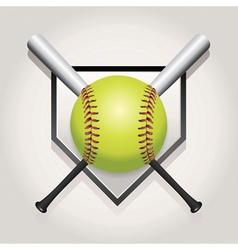 Softball bat plate vector