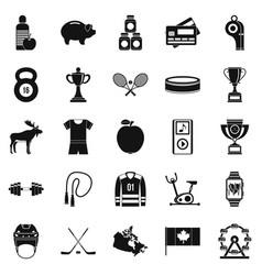 Sports uniform icons set simple style vector