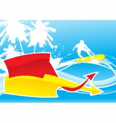 summer wave vector image vector image