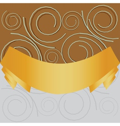 Swirl background with yellow ribbon vector image vector image