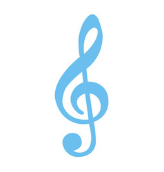 treble clef flat icon music and instrument vector image