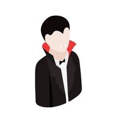 Vampire costume isometric 3d icon vector