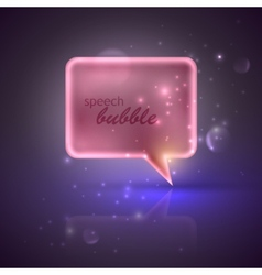 With pink speech bubble vector