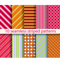 10 seamless patterns vector image vector image