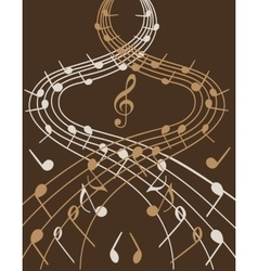 Waves of music vector image
