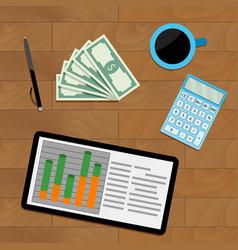 Financial income economic vector
