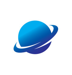 Circle globe round logo vector