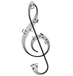 Abstract clef vector