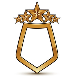 Heraldic template with five pentagonal golden vector