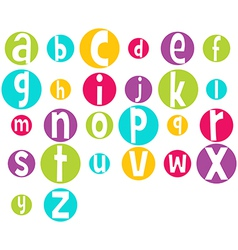 Crazy bright alphabet vector