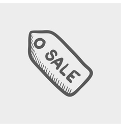 Sale tag sketch icon vector
