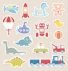 Toys icon color vector