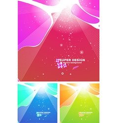 Bright summer background set vector