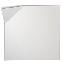 Blank piece of paper vector