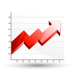 arrow graph diagram vector image