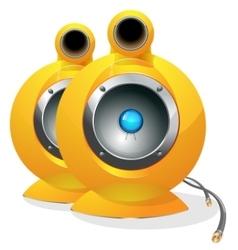 Hi-tech audio speaker vector