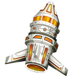 Spaceship with wings on white background vector